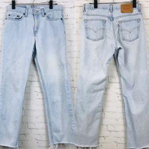 Levi's Women Jeans Blue Light Wash Vintage 505 6M